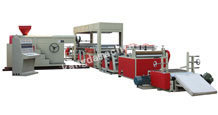 Single Extruder Double Die Laminating Machine